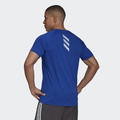 Heren Hardlopen Blauw Runner T-shirt