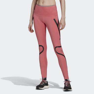 розовый Леггинсы для бега adidas by Stella McCartney