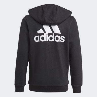 Boys Lifestyle Black adidas Essentials Full-Zip Hoodie