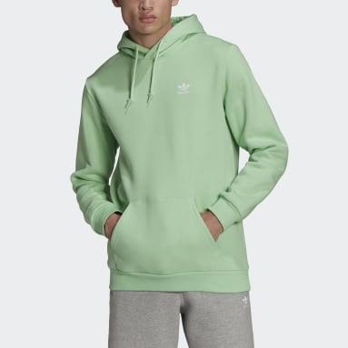 Hoodie adicolor Essentials Trefoil Verde Uomo Originals