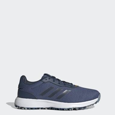 Men Golf Blue S2G Spikeless Golf Shoes
