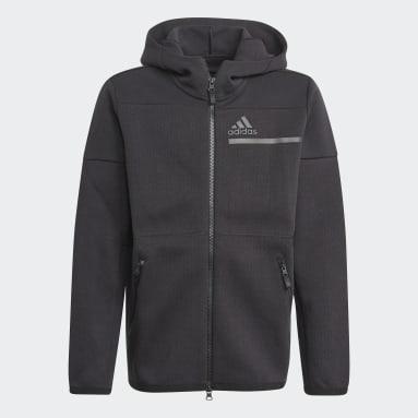 Youth 8-16 Years Sportswear Black Z.N.E. Full-Zip Hoodie