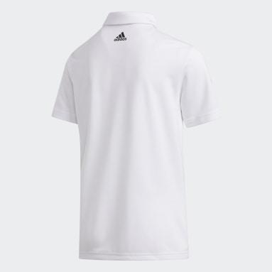 Boys Golf Hvid 3-Stripes polotrøje