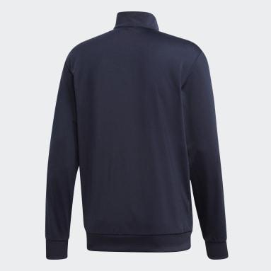 Campera Essentials Tricot 3 rayas Azul Hombre Diseño Deportivo