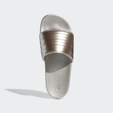 ผู้หญิง ว่ายน้ำ สีเบจ รองเท้าแตะ Adilette Comfort