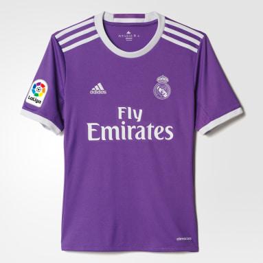 Jersey de Visitante Real Madrid 2016 Violeta Niño Fútbol