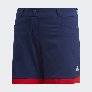 Youth Golf Blue Scalloped Shorts