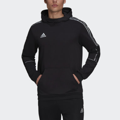 Heren Voetbal Zwart Tiro Reflecterende Hoodie
