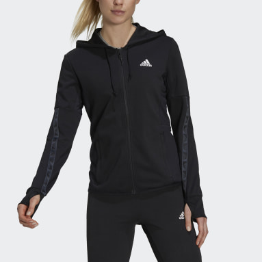 Women Training Black Designed 2 Move Cotton Touch Hoodie