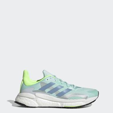 Women Running Green SolarBoost 3 Shoes