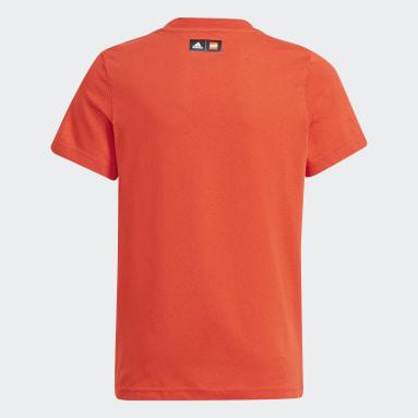 Camiseta adidas x LEGO® Estampada Rojo Niño Training