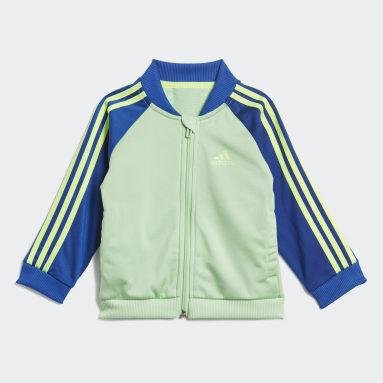 Tuta 3-Stripes Tricot Verde Bambini Fitness & Training