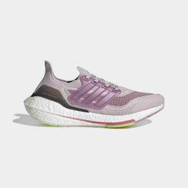ผู้หญิง วิ่ง สีม่วง รองเท้า Ultraboost 21
