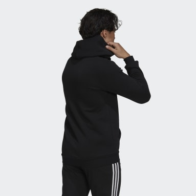 Men's Essentials Black Essentials Fleece Camo-Print Hoodie