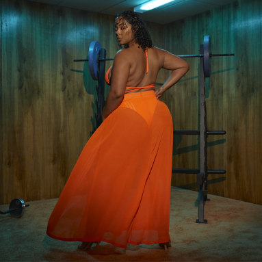 Dames Originals Oranje IVY PARK Swim Cover-Up Rok
