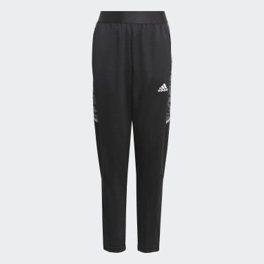 Youth 8-16 Years Football Black Condivo 21 Primeblue Training Tracksuit Bottoms