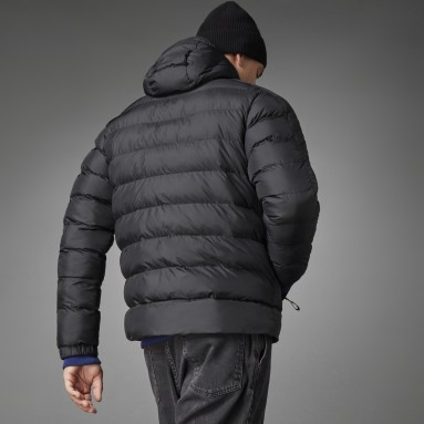 Men City Outdoor Black Itavic 3-Stripes Midweight Hooded Jacket