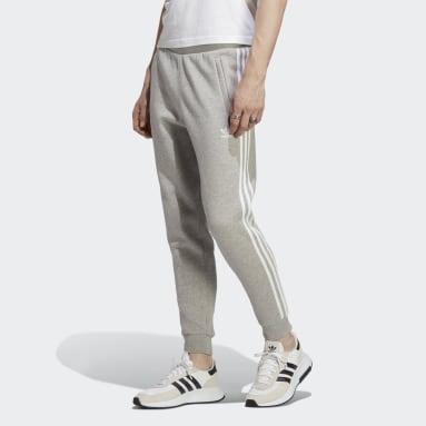 Pants Adicolor Classics 3 Franjas Plomo Hombre Originals
