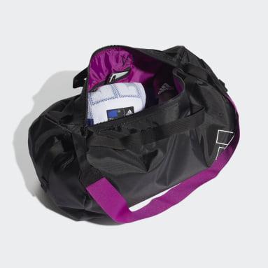Dam Studio Svart Canvas Sports Duffel Bag