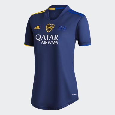 Camiseta Cuarto Uniforme Boca Juniors 20/21 Azul Mujer Fútbol