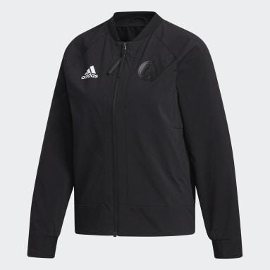 ผู้หญิง Sportswear สีดำ เสื้อแจ็คเก็ตทรงบอมเบอร์ VRCT
