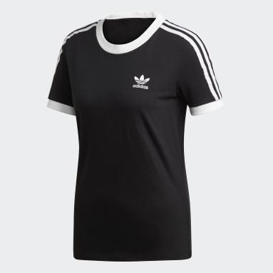Dames Originals Zwart 3-Stripes T-shirt