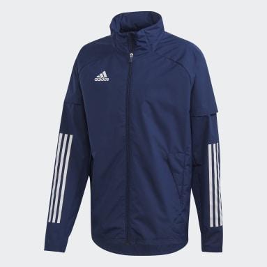 Männer Fußball Condivo 20 Allweather Jacke Blau