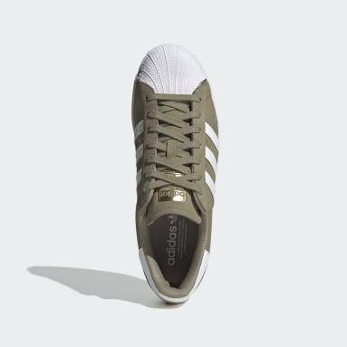 Men Originals Green Superstar Shoes