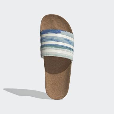 Men Originals White Adilette Cork Slides