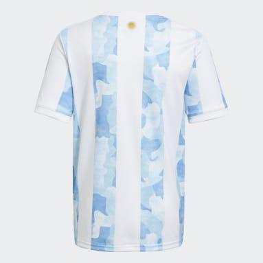 Camiseta Local Selección Argentina Blanco Niño Fútbol