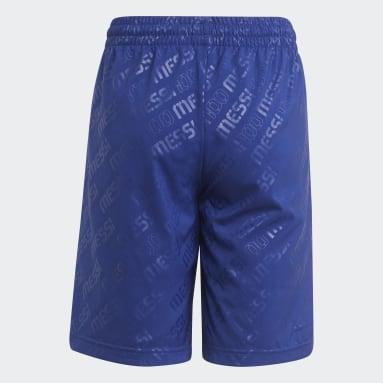 Shorts AEROREADY Messi Inspiración Futbolera Azul Niño Training