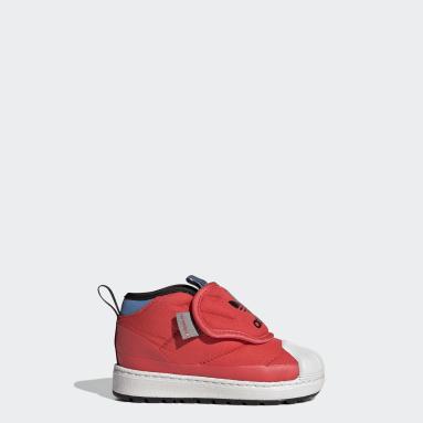 Børn Originals Rød Superstar 360 støvler