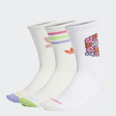Originals White Crew Socks 3 Pairs