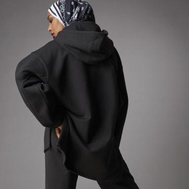Sweat-shirt à capuche Adicolor Fleece Noir Femmes Originals