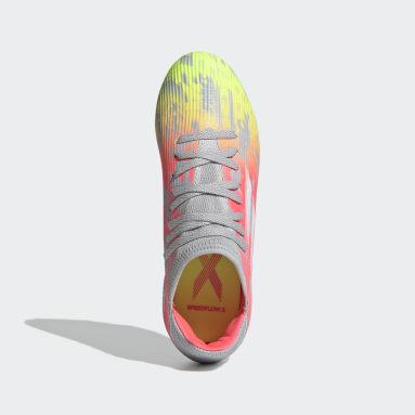 Chaussure X Speedflow.3 Terrain souple Gris Enfants Football