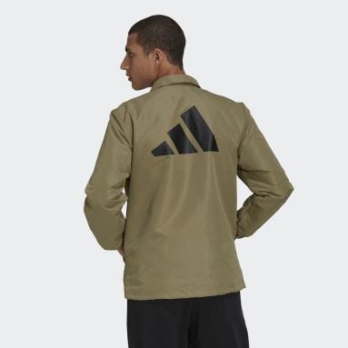 Men Sportswear Green adidas Sportswear Future Icons Coach Jacket
