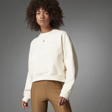 Women Originals White Blue Version Batwing Crew Sweatshirt