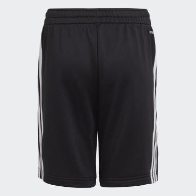 เด็กผู้ชาย เทรนนิง สีดำ กางเกงขาสั้น AEROREADY Primegreen 3-Stripes