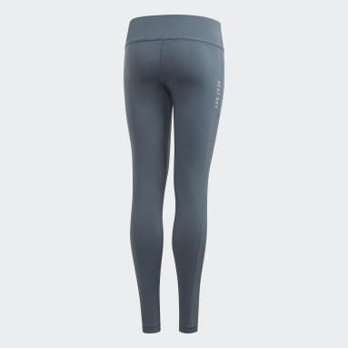 Girls Gym & Training Grey HEAT.RDY Leggings