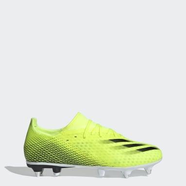 Botas de Futebol X Ghosted.3 – Piso mole Amarelo Mulher Futebol