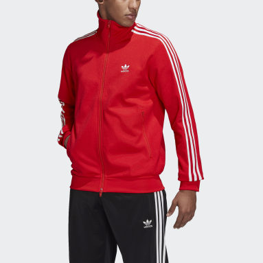 Men Originals Red Adicolor Classics Beckenbauer Primeblue Track Top