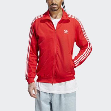 Muži Originals červená Sportovní bunda Adicolor Classics Beckenbauer Primeblue