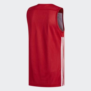 Männer Basketball 3G Speed Reversible Trikot Rot