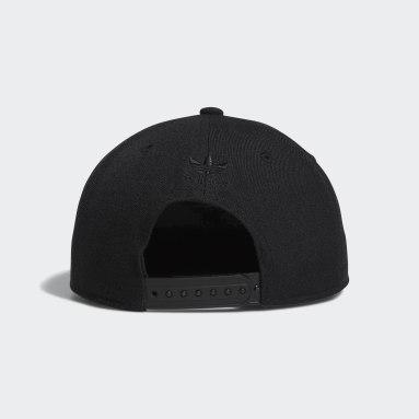 Men's Originals Black Trefoil Chain Snap-Back Cap