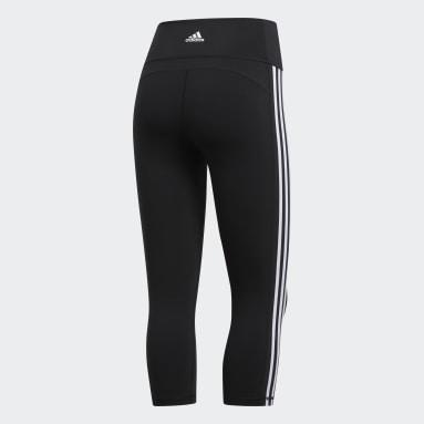 Dames HIIT Zwart Believe This 2.0 3-Stripes 3/4 Legging