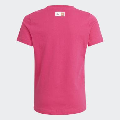 Youth 8-16 Years Gym & Training Burgundy adidas x LEGO® DOTS™ Graphic T-Shirt