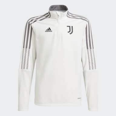 Sudadera entrenamiento Juventus Tiro Blanco Niño Fútbol