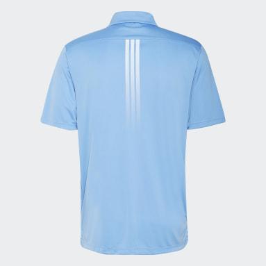 Polo Solid 3 bandas Azul Hombre Golf