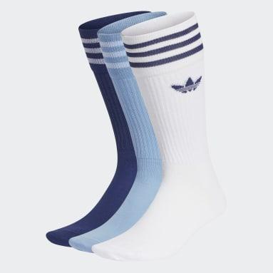 синий Три пары носков Crew