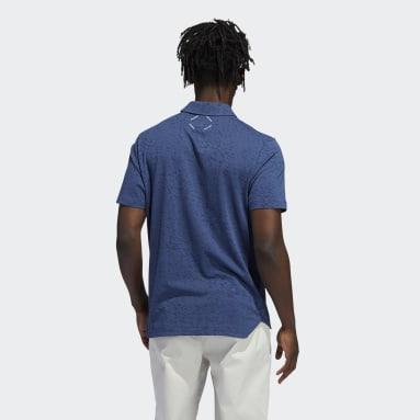 Men Golf Blue Adicross Three Below Polo Shirt